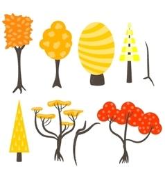 tree clip art nature set vector image vector image