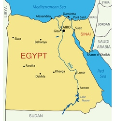 Arab Republic of Egypt - map vector image vector image
