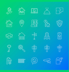 house line icons vector image