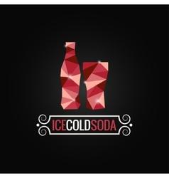 soda bottle poly design background vector image vector image