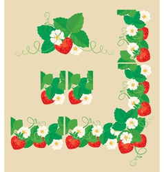 strawberry frame 1 380 vector image vector image