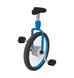 Unicycle one wheel bicycle cartoon vector image vector image