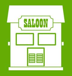 western saloon icon green vector image vector image