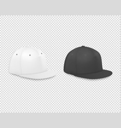 3d realistic render white and black blank vector image