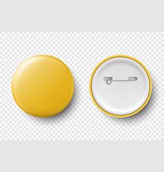3d realistic yellow metal plastic blank vector image