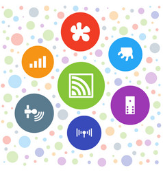 7 spot icons vector image