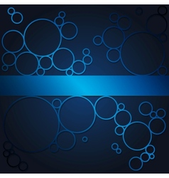 Abstract background with blue shining circles vector image