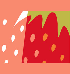 Abstract fruit design strawberry and seeds vector