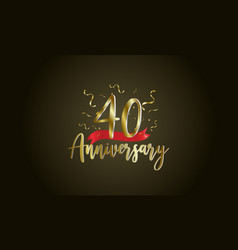 Anniversary celebration background with 40th vector