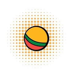 Baby ball comics icon vector image