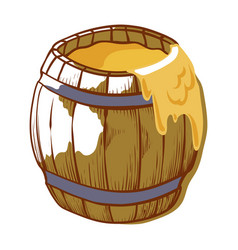 barrel healthy honey full yellow pot vector image