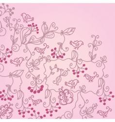 berries background vector image