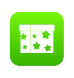 Box magician icon digital green vector