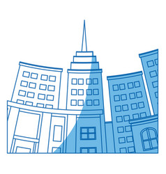 Building skyscraper city bottom view image vector