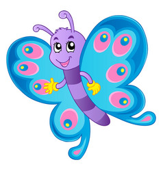 Butterfly theme image 1 vector