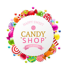 candy poster vector image