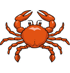 cartoon doodle crab vector image