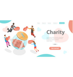 charity and support voluntary giving help to vector image