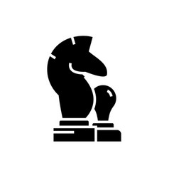 chess - horse pawn icon vector image