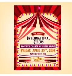 Circus Poster entrance vector