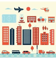 City modern elements vector