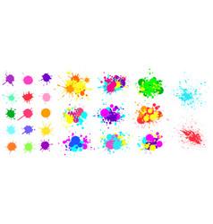 color paint splatter spray paint blot element vector image