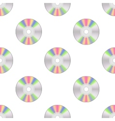 Colorful Compact Disc Seamless Pattern vector