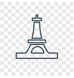 eiffel tower concept linear icon isolated on vector image