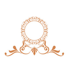elegant frame heraldry ornate decoration element vector image