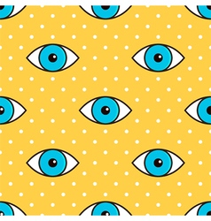Eyes abstract dotted seamless pattern background vector image