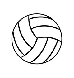 figure ball to play volleyball icon vector image