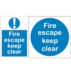 Fire escape signs vector