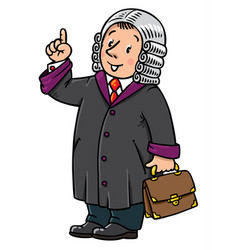 Funny judge understand thumbs up vector