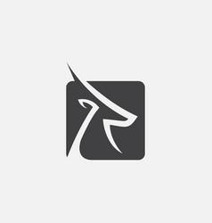 Gazelle icon design logo vector