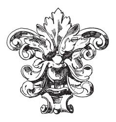 German mask vintage engraving vector