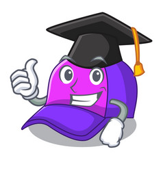 graduation isolated cap in the a mascot vector image