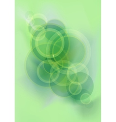 Green glistening mesh background with circles vector