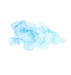 hand painted blue watercolor texture isolated vector image