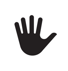 hand palm silhouette icon vector image