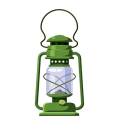 Kerosene lamp icon cartoon style vector
