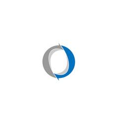 Letter o arrow logo design template vector