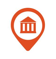 location bank icon vector image