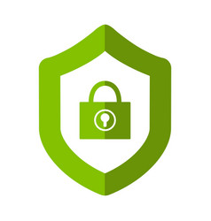 lock icon under vector image vector image