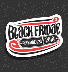 logo for black friday vector image
