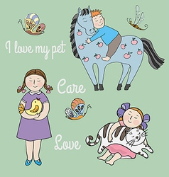 Love and care vector image