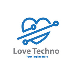 love tech logo designs vector image
