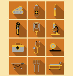medical icons on background medicine symbols vector image