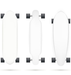 mock-up for longboards vector image