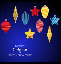 new year dark blue background vector image