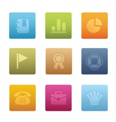 office icons square vector image